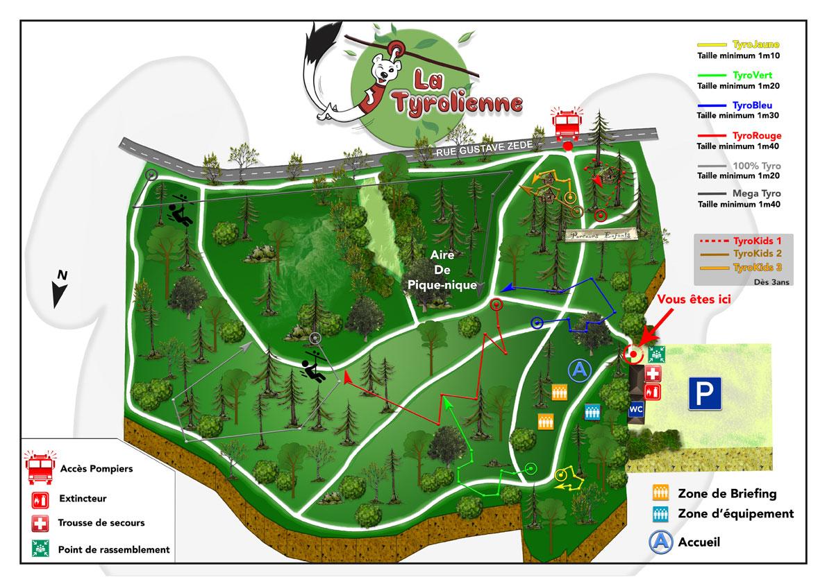carte du parc accrobranche